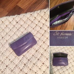 New listing! Vintage Lilac Cowhide Wallet